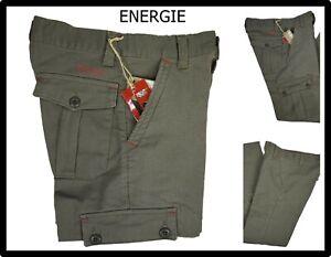 Energie-pantaloni-da-donna-cargo-vita-alta-sportivi-cotone-con-tasconi-w26-40