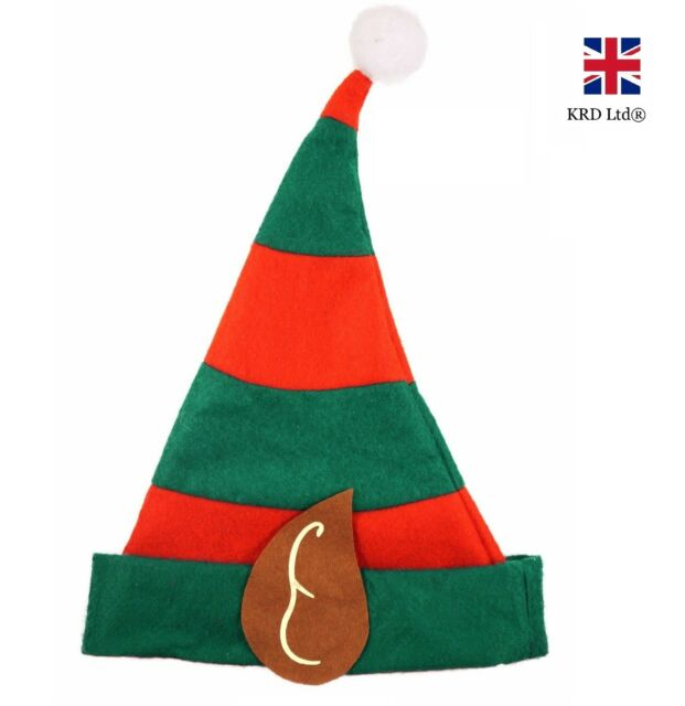 kids elf hat with pixie ears christmas fancy dress costume child