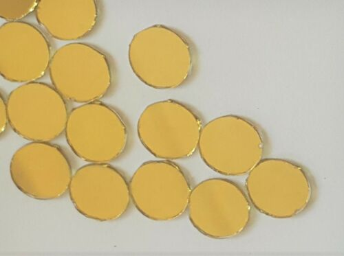 Gold effect Glass Shisha Mirrors 13mm for embroidery 40 quilting /& crafters