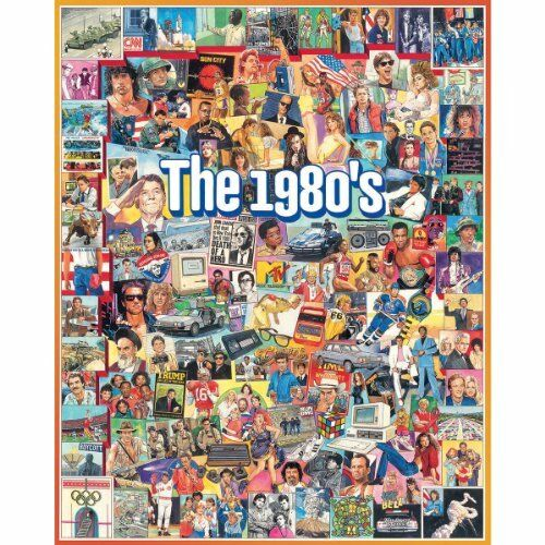 Adult Puzzles The Eighties 1980's Jigsaw Puzzle Game Toy VHS MTV TV Shows Movies