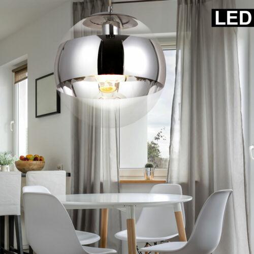 Smart LED Pendel Decken Lampe RGB DIMMER Alexa Google App Leuchte Chrom Glas