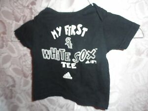 INFANTS-ADIDAS-BLACK-034-MY-FIRST-WHITE-SOX-TEE-034-T-SHIRT-SIZE-6-9-MONTHS-NEW