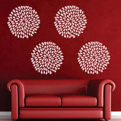 Rain Drop Flower Wall Sticker Motivation Living Room Office Home Vinyl Art Decor