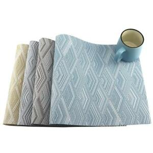 6pcs-Table-Placemats-Heat-Insulation-Stain-resistant-Woven-Vinyl-Placemats