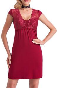 cheap for discount 71e86 ad523 Details zu Damen Nachtkleid Nachthemd Nachtwäsche Große Größen Dessous
