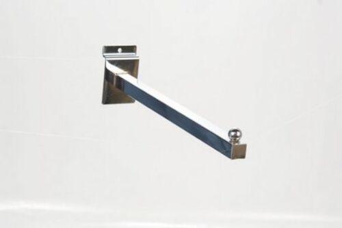 "SLATWALL 12/"" STRAIGHT ARMS RETAIL DISPLAY SHOP FITTINGS X 38 NEW"