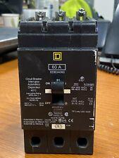 Square D 60 Amp Circuit Breaker 3 Pole 480y277 Vac Edb34060