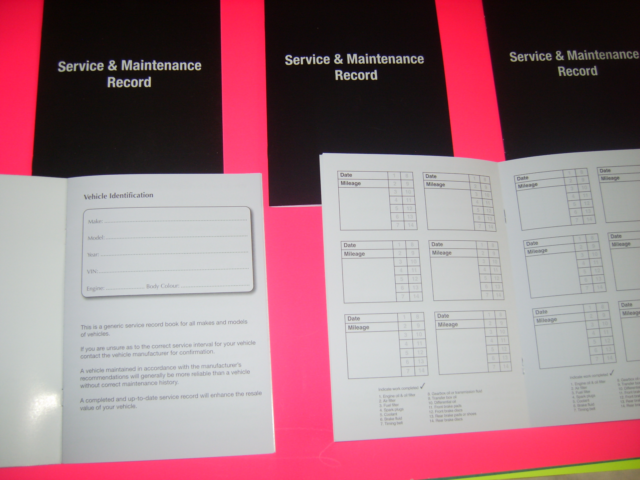 Replacement Generic Service History Book Suitable For Renault  Red