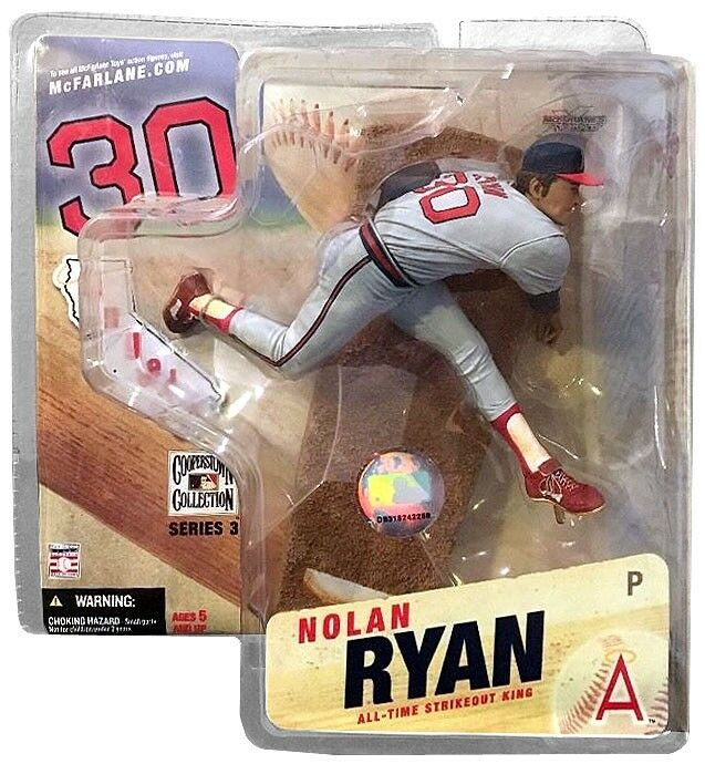 MLB Cooperstown Collection Series 3 Nolan Ryan Action Figure [Angels Uniform]