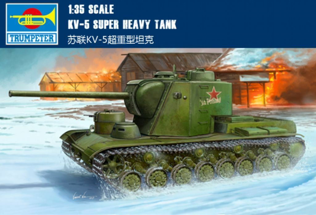 ◆ Trumpeter 1 35 05552 KV-5 Super HEAVY TANK MODEL KIT