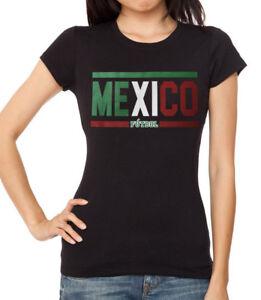 Juniors Mexico Futbol Black T Shirt Women s World Cup 2018 Soccer ... 633d04ad07