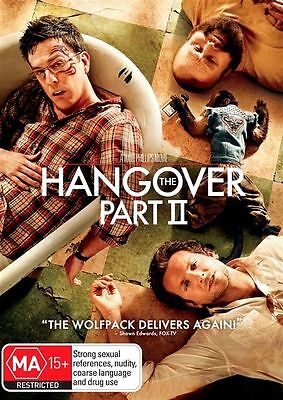 HANGOVER PART 2 II DVD Bradley Cooper Ed Helms COMEDY (NEW & SEALED) R4'