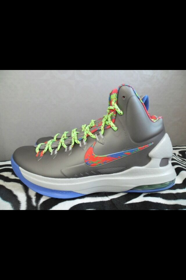 Nike Zoom KEVIN DURANT KD V 5 ENERGY SPLATTER GREY purple PURPLE RED GREEN 13