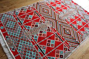130x-200-cm-Waschbarer-Handgefertigter-Teppich-Kelim-Carpet-Rug-neu-RS-1-4-22
