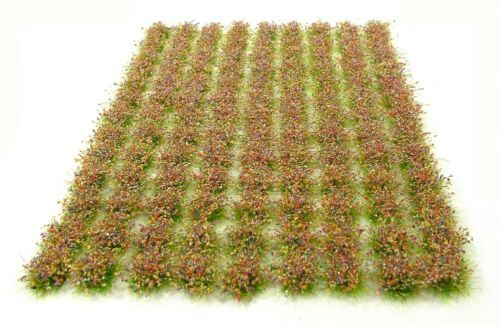 Mixed flowers tufts x117 tufts Self adhesive static model scenery