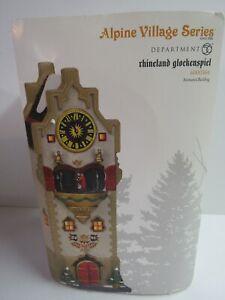 Dept-56-Alpine-Village-Rhineland-Glockenspiel-6000564-Animated-Torn-Box