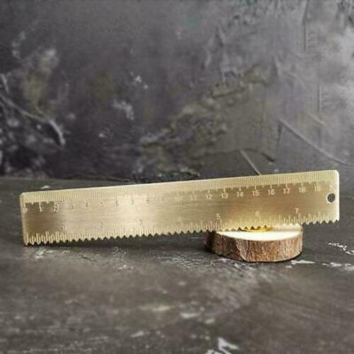 20 cm Brass Wave Straight Ruler Signet cartographie peinture Measuring School H