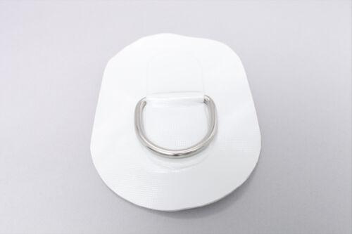 D-Ring für Schlauchboote Beschlag zum Aufkleben aus Valmex Bengar DR-02 grau