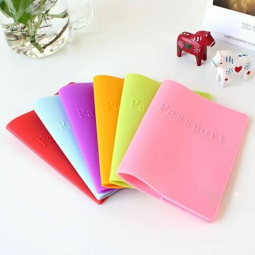 Business Cards New Documents Folder Passport Holder Silica Gel Leather Bags