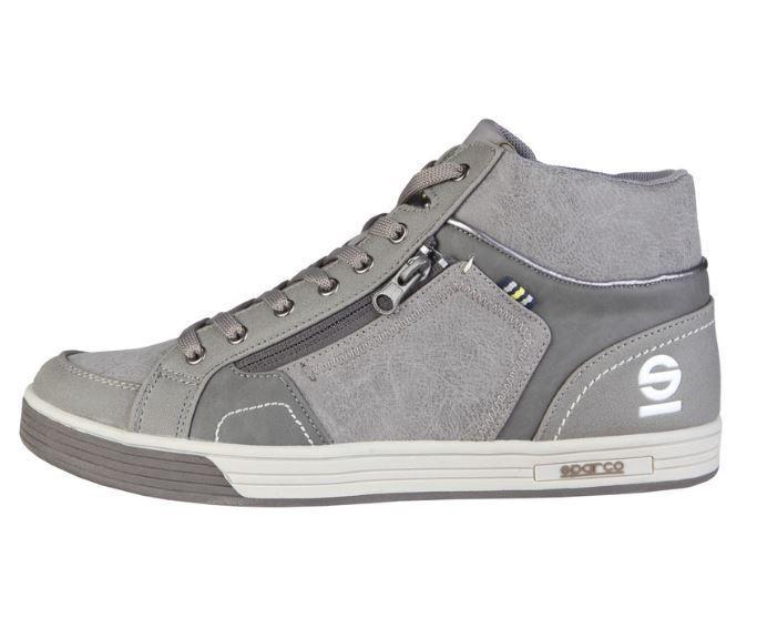 [NEU] Sparco Leon ash grau Leder Herren Schuhe Hightop Sneaker alle Größen