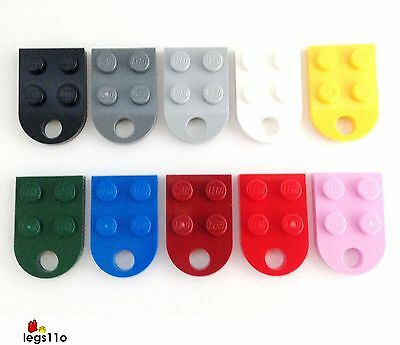 LEGO Plate 3X2 with Round End and Hole NEW 3176 choose colour and quantity
