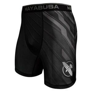 Hayabusa Haburi Breathable Wicking Compression Shorts Black