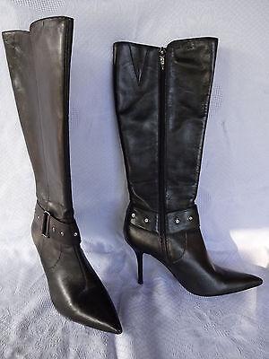 Oxmox Stiefel Lederstiefel Damenstiefel schwarz Gr. 36 | eBay