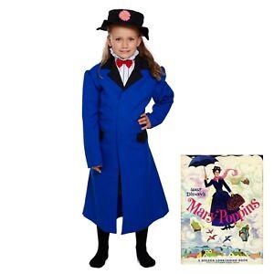 5841da7bf9 Child MARY POPPINS Fancy Dress COSTUME World Book Day Disney Kid ...