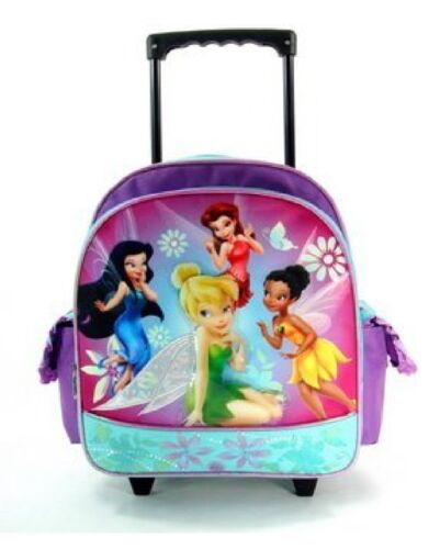 Disney/'s Tinkerbell Fairies Small 12IN Rolling School Bag