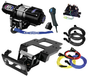 image is loading kfi-u45-r2-4500lbs-stealth-winch-amp-mount-