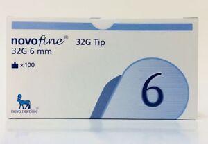 Novofine 32g 6mm Tip Needles - 100 Piece