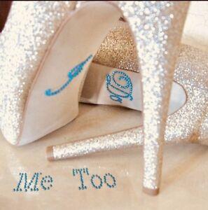 Hochzeit I Do Me Too Strassstein Aufkleber Fur Die Schuhe