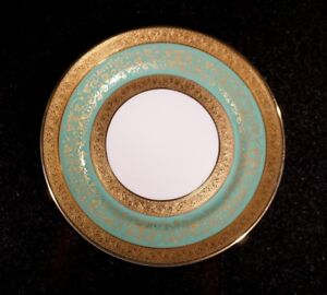 Stunning-Antique-Rosenthal-Selb-Plossberg-Gold-Encrusted-Aida-Bread-Plate