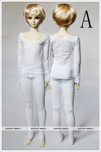 Bjd Clothes boy Pure white Anti staining low collar outfits1//3 1//4Doll long john