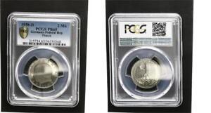 2 DM Currency Coin Max Planck 1958 D Pf PCGS PR65 (2)