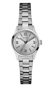 Bulova-Women-039-s-96L198-Corporate-Quartz-Silver-Tone-Dial-Bracelet-28mm-Watch