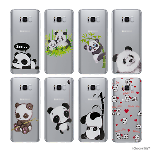 new styles 630d8 a4244 Details about Cute Panda Case/Cover Samsung Galaxy S7 (G930) / Screen  Protector / Silicone Gel