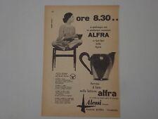 advertising Pubblicità 1956 LATTIERA ALFRA ALESSI