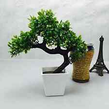 Artificial Japanese Zen Bonsai Tree Home Planet with Pot. Perfect for a Desk, Ta