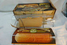 VINTAGE PYREX BAKING DISH BREAD BAKE A ROUND GLASS TUBE WITH BOX INSTRUCTIONS