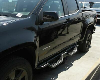 Raptor Series 0701-0323 4 inch Oval Stainless Side Bar Steps for 04-12 Colorado//Canyon Extended Cab