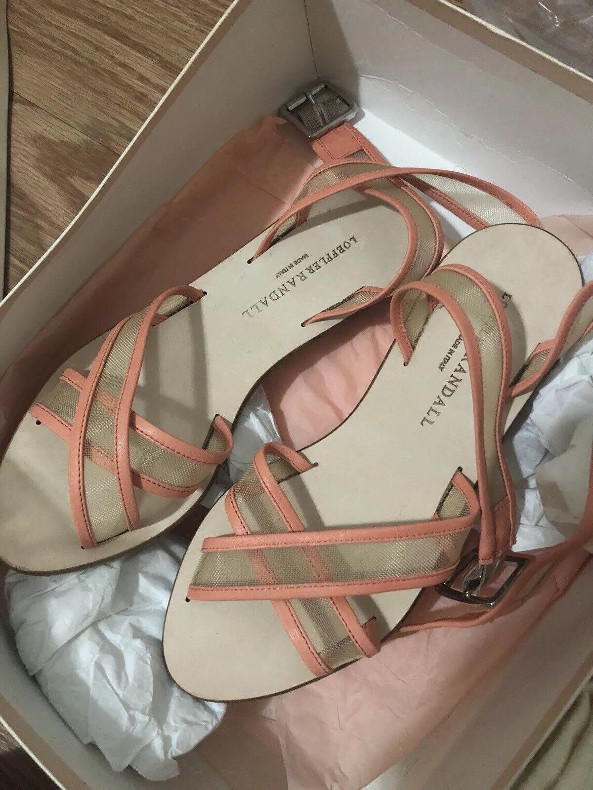 Loeffler randall Ondine Strap Strap Strap Sandals In Mango arancia 5.5 35.5 30bbf6