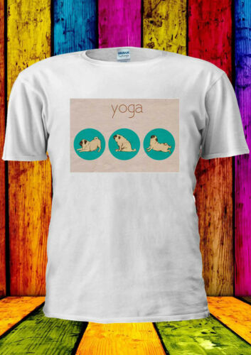Pug Yoga Dog Funny Cute GYM Training T-shirt Vest Tank Top Men Women Unisex 1970