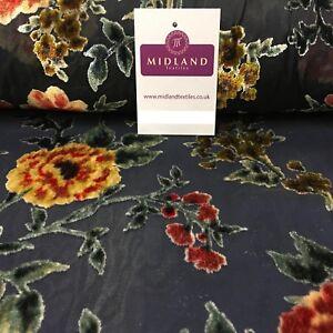 """3 m Ivoire Floral DEVORE Burnout Tissu 45/"""" /""""de large robe de mariée Décorations"""