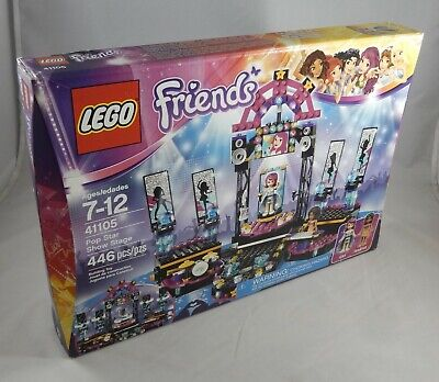 446pc LEGO Friends 41105 Pop Star Show Stage w// Instruments /& More NEW Retired