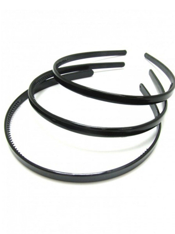 Design Plain Simple Black Wide 2.5Cm Plastic Alice Band Headband Hair Band UK