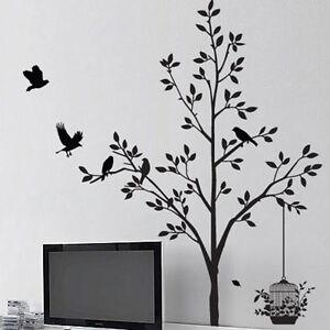Tree-Wall-sticker-Bird-Flower-Leaf-Window-Wall-stickers-Wall-decal-Wall-Art-11