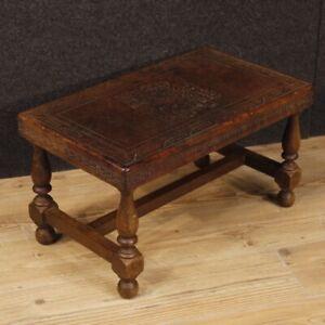 Banc-Espagnole-Meuble-en-Bois-Cuir-Style-Ancien-Assise-Salon-Petite-Table-Chaise