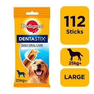 112 Pedigree Daily Dentastix Dental Sticks Dog Treats Large Dog Chews