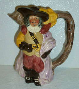 Musketeer-Figural-Toby-Character-Jug-Pitcher-Sylva-Ceramics-Staffordshire-5-75-034